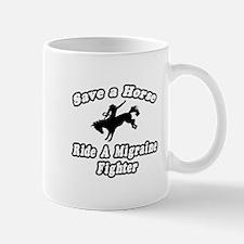 """Ride a Migraine Fighter"" Mug"