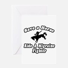 """""""Ride a Migraine Fighter"""" Greeting Card"""