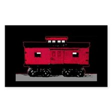 Red Caboose Rectangle Decal