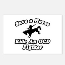 """""""Ride an OCD Fighter"""" Postcards (Package of 8)"""