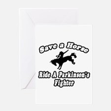 """Ride Parkinson's Fighter"" Greeting Card"