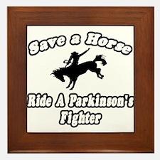 """""""Ride Parkinson's Fighter"""" Framed Tile"""