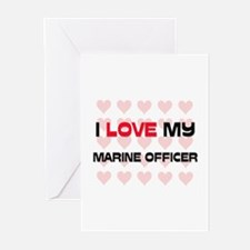 I Love My Marine Officer Greeting Cards (Pk of 10)