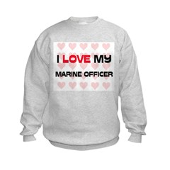 I Love My Marine Officer Sweatshirt