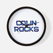colin rocks Wall Clock
