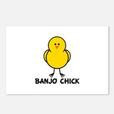Banjo Chick Postcards (Package of 8)