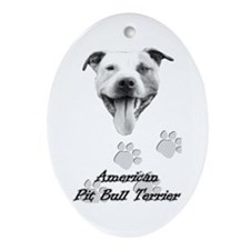 """Happy Pit"" Oval Ornament"