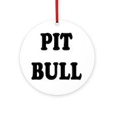 """Pit Bull"" Ornament (Round)"