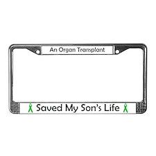 Son Transplant License Plate Frame