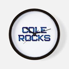 cole rocks Wall Clock