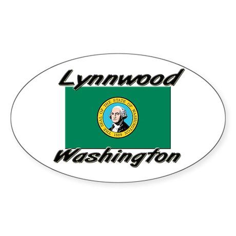 Lynnwood Washington Oval Sticker