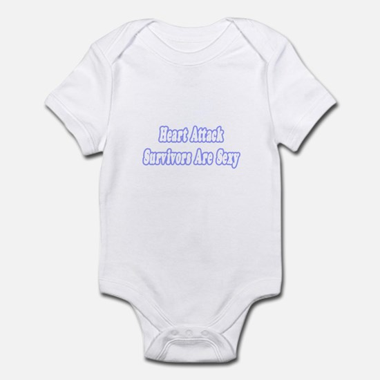 """Sexy Heart Attack Survivor"" Infant Bodysuit"