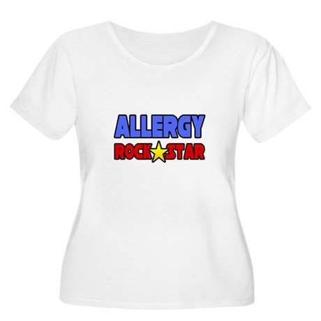 """Allergy Rock Star"" Women's Plus Size Scoop Neck T"