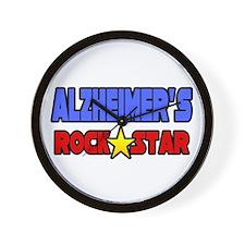 """""""Alzheimer's Rock Star"""" Wall Clock"""