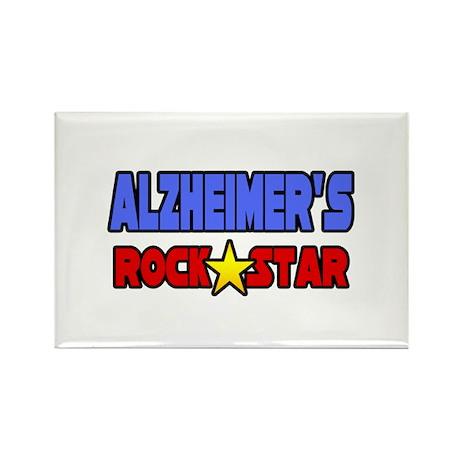 """Alzheimer's Rock Star"" Rectangle Magnet"