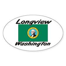 Longview Washington Oval Decal