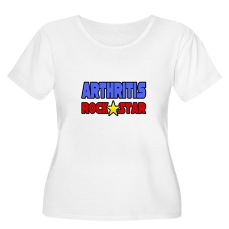 """Arthritis Rock Star"" Women's Plus Size Scoop Neck"