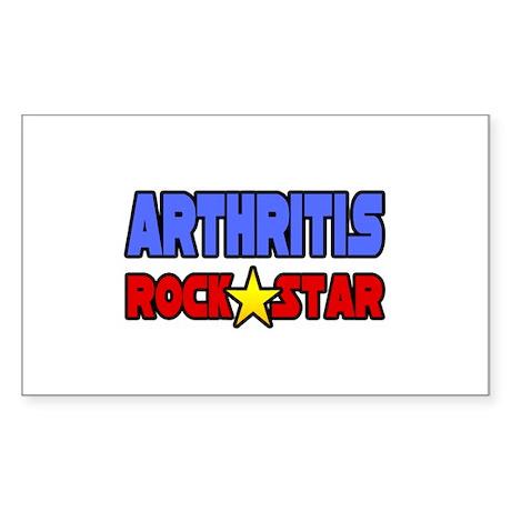 """""""Arthritis Rock Star"""" Rectangle Sticker"""
