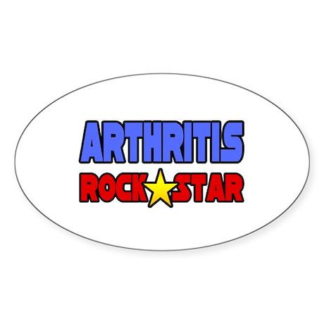 """Arthritis Rock Star"" Oval Sticker (10 pk)"