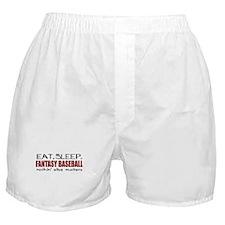 Eat Sleep Fantasy Baseball Boxer Shorts
