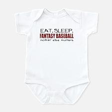 Eat Sleep Fantasy Baseball Infant Bodysuit