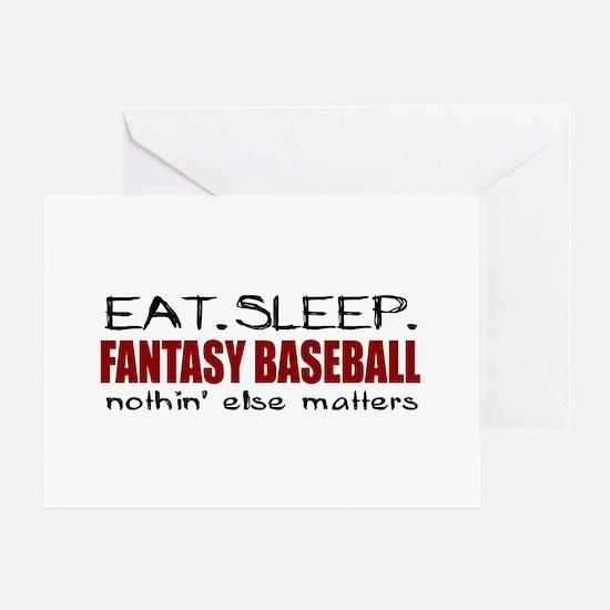Eat Sleep Fantasy Baseball Greeting Card