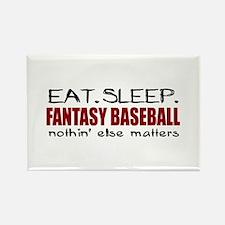 Eat Sleep Fantasy Baseball Rectangle Magnet
