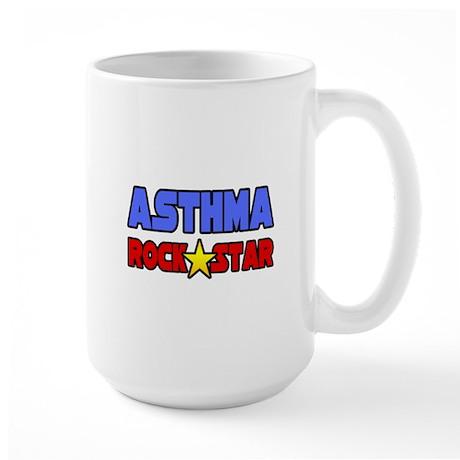 """Asthma Rock Star"" Large Mug"
