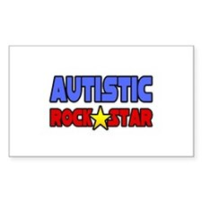 """""""Autistic Rock Star"""" Rectangle Decal"""