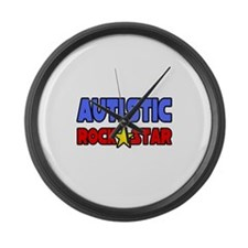 """Autistic Rock Star"" Large Wall Clock"