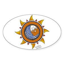 """FR""Designs Wave/Sun Oval Decal"