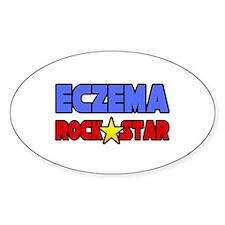 """""""Eczema Rock Star"""" Oval Decal"""