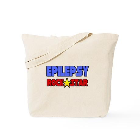 """Epilepsy Rock Star"" Tote Bag"