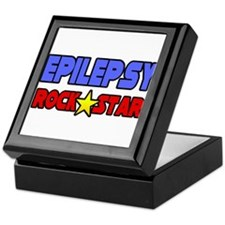 """Epilepsy Rock Star"" Keepsake Box"