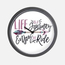 Life Is A journey Enjoy The Ride Wall Clock