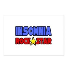 """""""Insomnia Rock Star"""" Postcards (Package of 8)"""