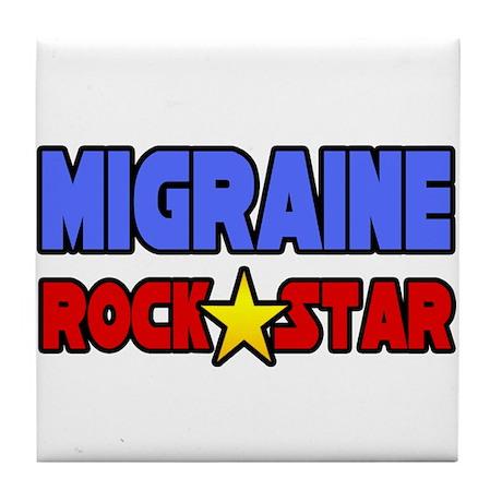 """Migraine Rock Star"" Tile Coaster"