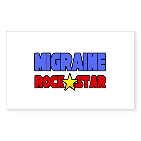 """Migraine Rock Star"" Rectangle Sticker"