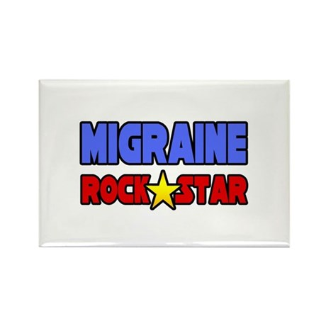 """Migraine Rock Star"" Rectangle Magnet"
