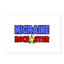 """Migraine Rock Star"" Postcards (Package of 8)"