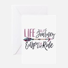 Life Is A journey Enjoy The Ride Greeting Cards