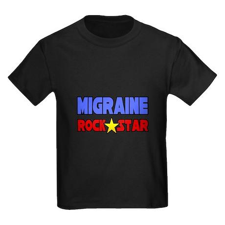 """""""Migraine Rock Star"""" Kids Dark T-Shirt"""