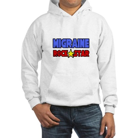"""Migraine Rock Star"" Hooded Sweatshirt"
