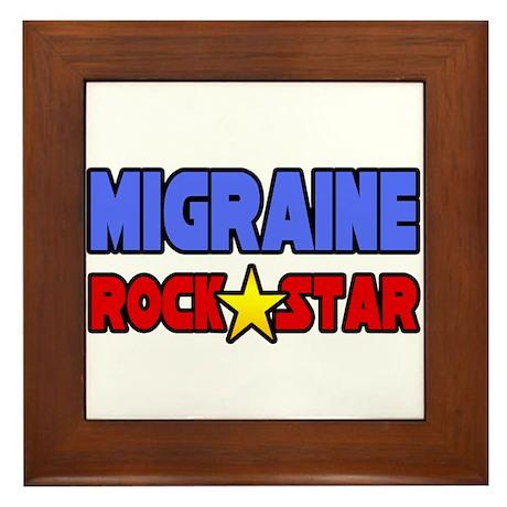 """""""Migraine Rock Star"""" Framed Tile"""