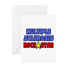 """Multiple Sclerosis RockStar"" Greeting Card"
