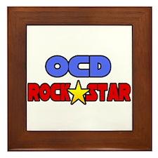 """""""OCD Rock Star"""" Framed Tile"""
