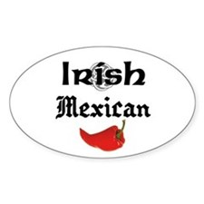 Irish Mexican Oval Decal