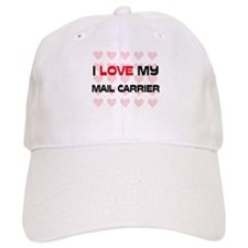I Love My Mail Carrier Baseball Cap