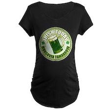 Irish today drunk tomorrow St T-Shirt