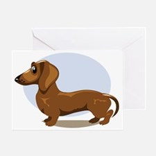 Cute Dachshund Greeting Card